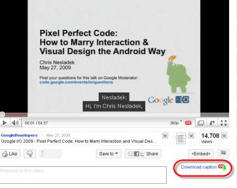 Download YouTube video captions as subtitles (SRT) file - Instant Fundas